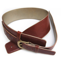 Hand crafted luxury leather adjustable strap for a bass or heavier guitar