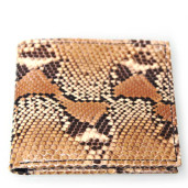 Python snakeskin and black leather wallet