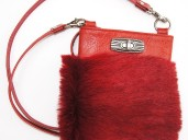 Red punk shoulder party purse