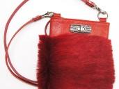 Red punk shoulder party purse