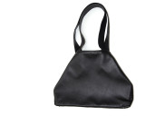 Lightweight black leather Tote bag