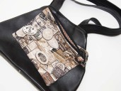 Lightweight black leather Tote bag and removable purse
