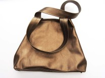 Lightweight bronze metallic leather Tote or shopping bag