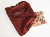 Russett brown Nappa leather Tote bag and matching purse