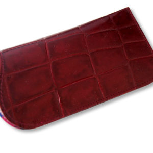 red crocco spectacles case