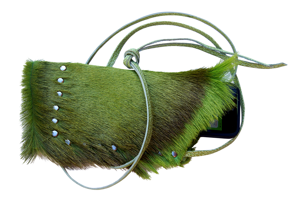 green punk iPhone case