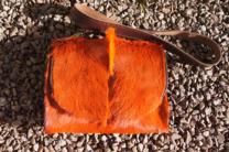Unique designer bag, springbok hide handbag, springboc satchel, spiky satchel