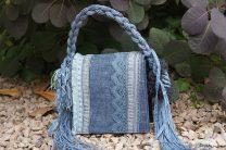 The crazy denim square handbag