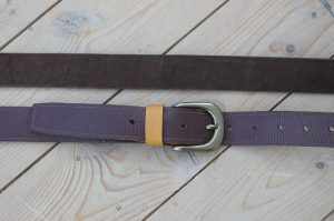 brown leather slim jim guitar strap