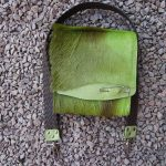 green punk springbock hide satchel